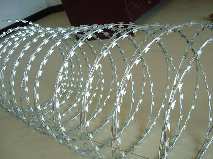 Galvanized Razor Wire Upgrading Security Level